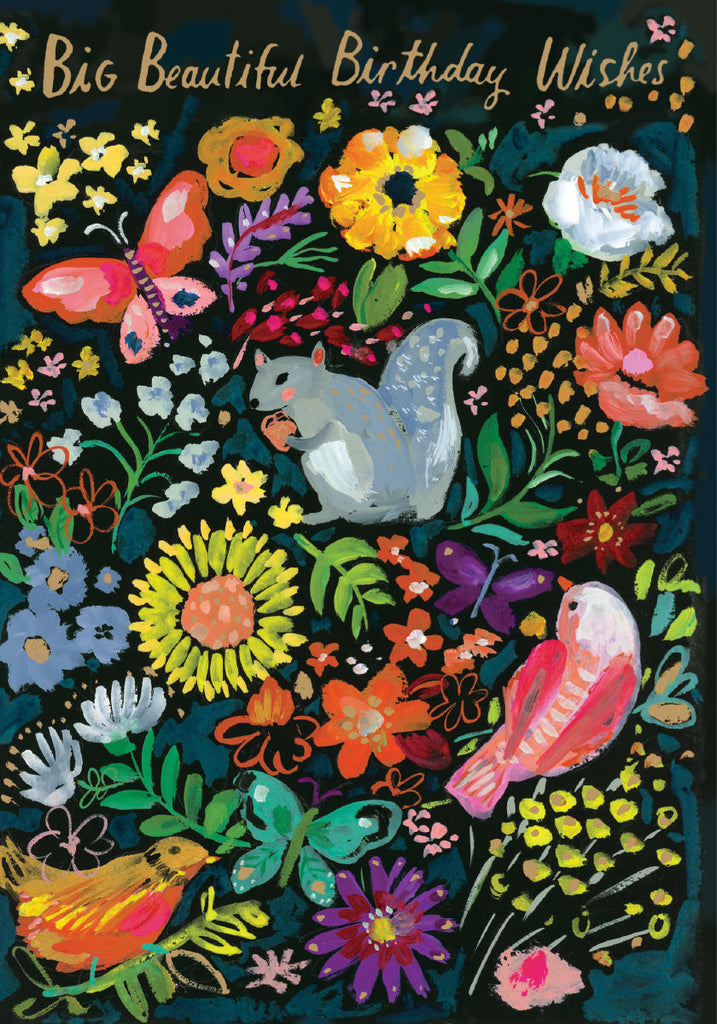Roger la Borde Wild Batik Petite Card featuring artwork by Jennifer Orkin Lewis