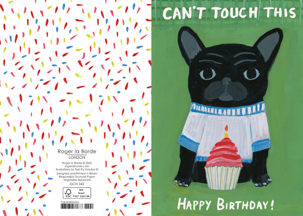 Roger la Borde Pup Talk Petite Card featuring artwork by Terri Fry Kasuba