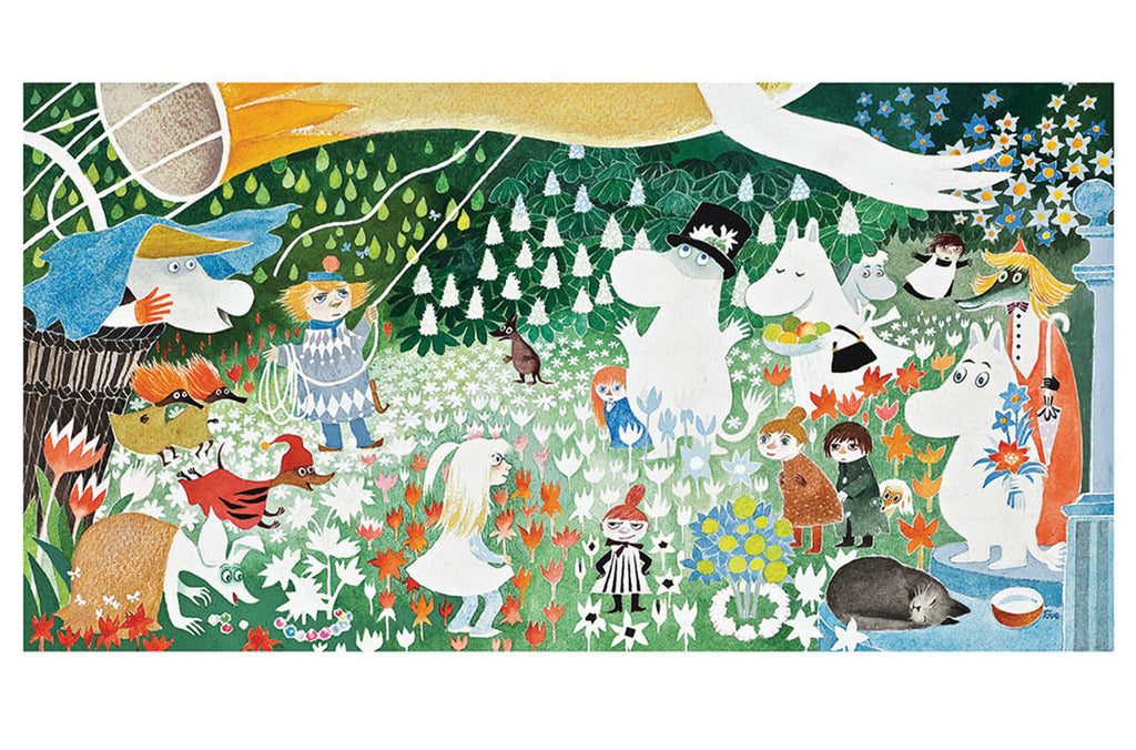Roger la Borde Moomin Scandi Card featuring artwork by Tove Jansson