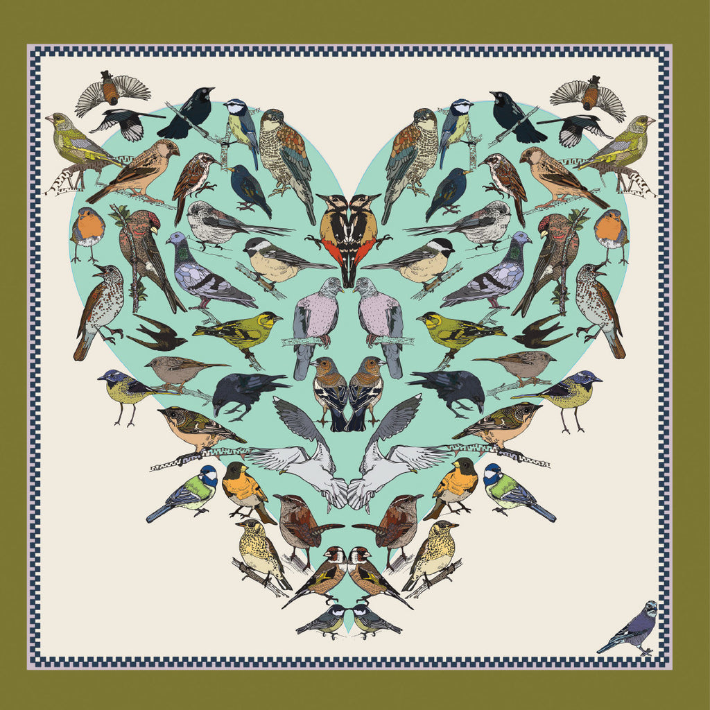 Roger la Borde Natural Selection Square Card featuring artwork by Vicki Murdoch