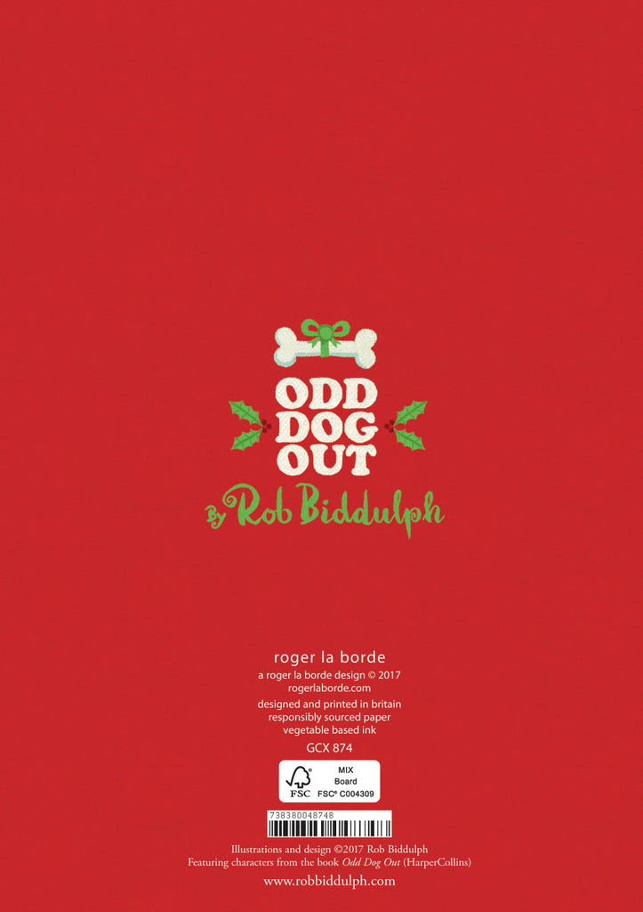 Roger la Borde Odd Dog Out Greeting Card featuring artwork by Rob Biddulph