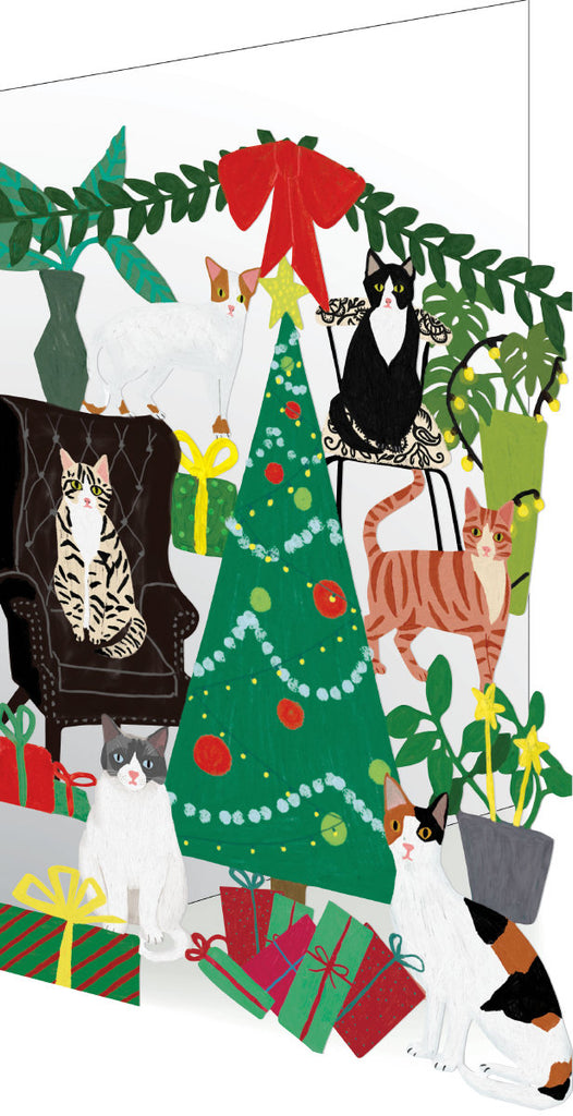 Roger la Borde Cat and Dog Palais Lasercut Card featuring artwork by Anne Bentley