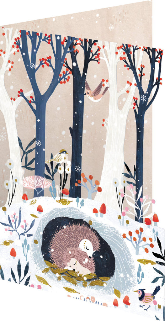 Roger la Borde Frosty Forest Lasercut Card featuring artwork by Antoana Oreski
