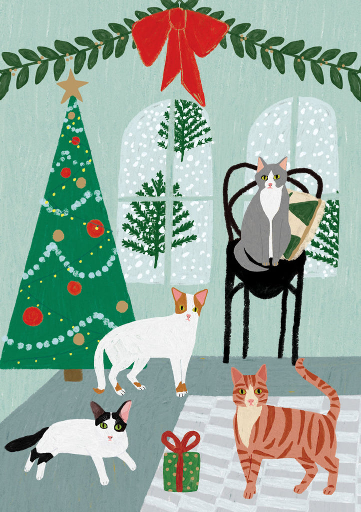 Roger la Borde Cat and Dog Palais Greeting Card featuring artwork by Anne Bentley
