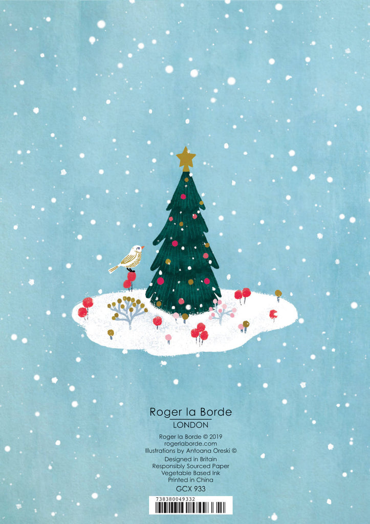 Roger la Borde Winter Garden Greeting Card featuring artwork by Antoana Oreski