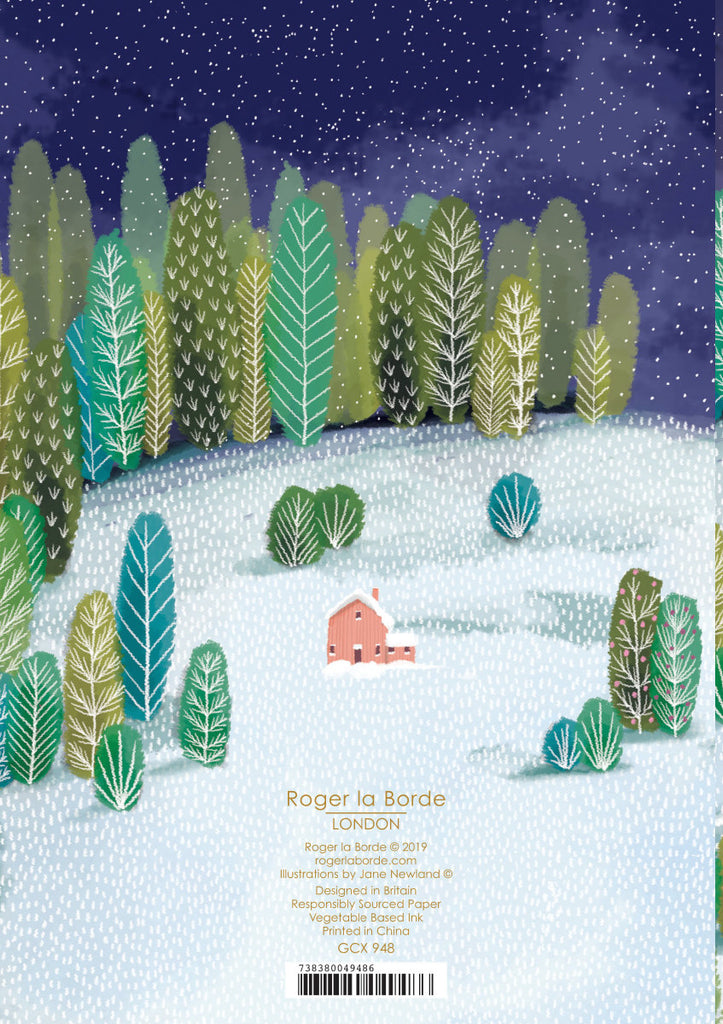 Roger la Borde Let It Snow Greeting Card featuring artwork by Jane Newland