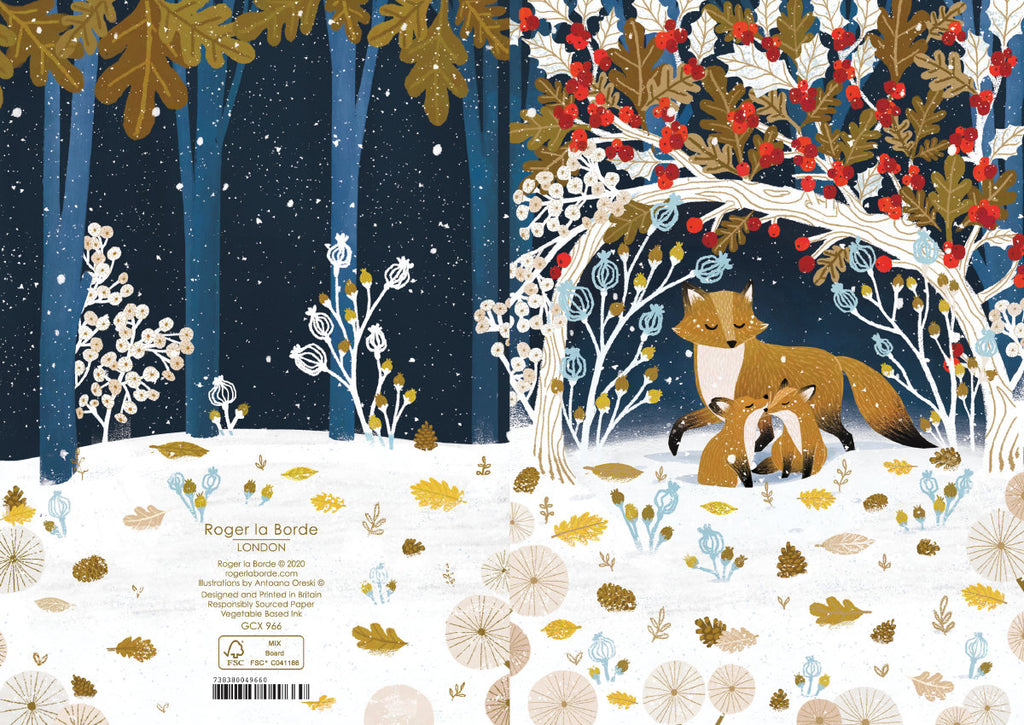 Roger la Borde Frosty Forest Greeting Card featuring artwork by Antoana Oreski