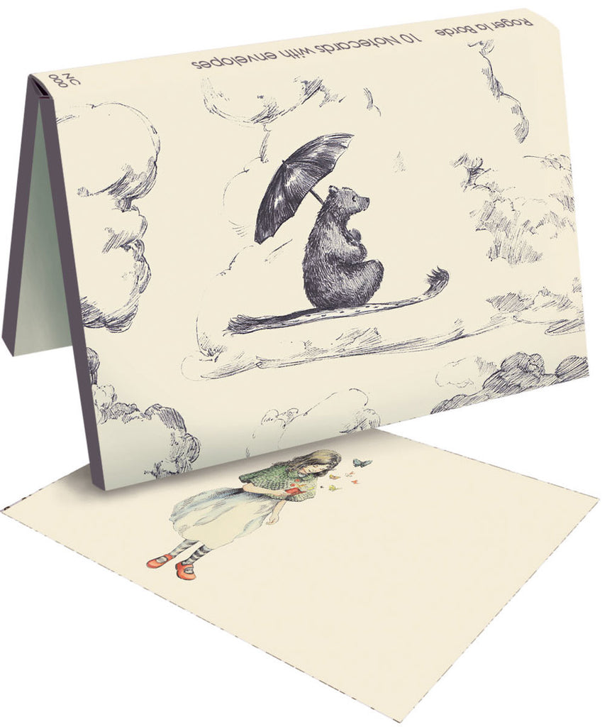 Roger la Borde Mondoodle Notecard wallet featuring artwork by Elise Hurst