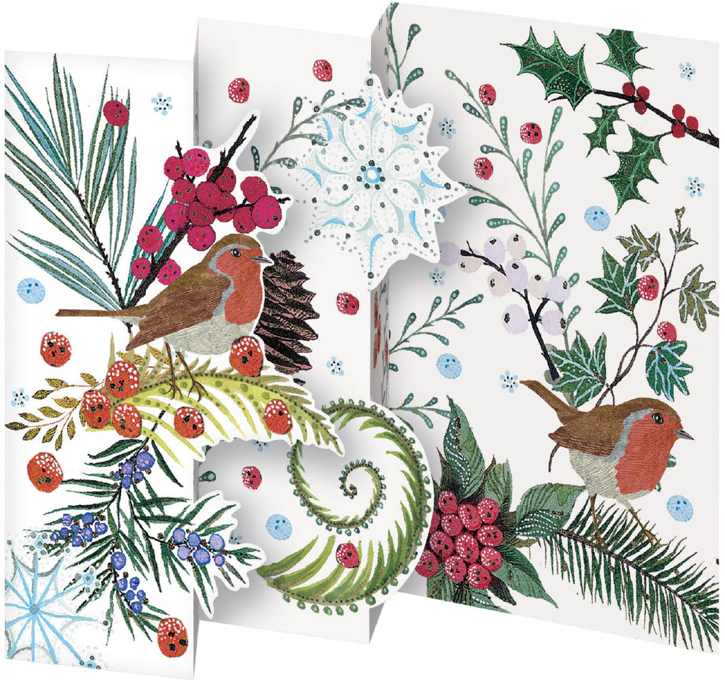 Roger la Borde Abundance Trifold Notecard featuring artwork by Jane Ray