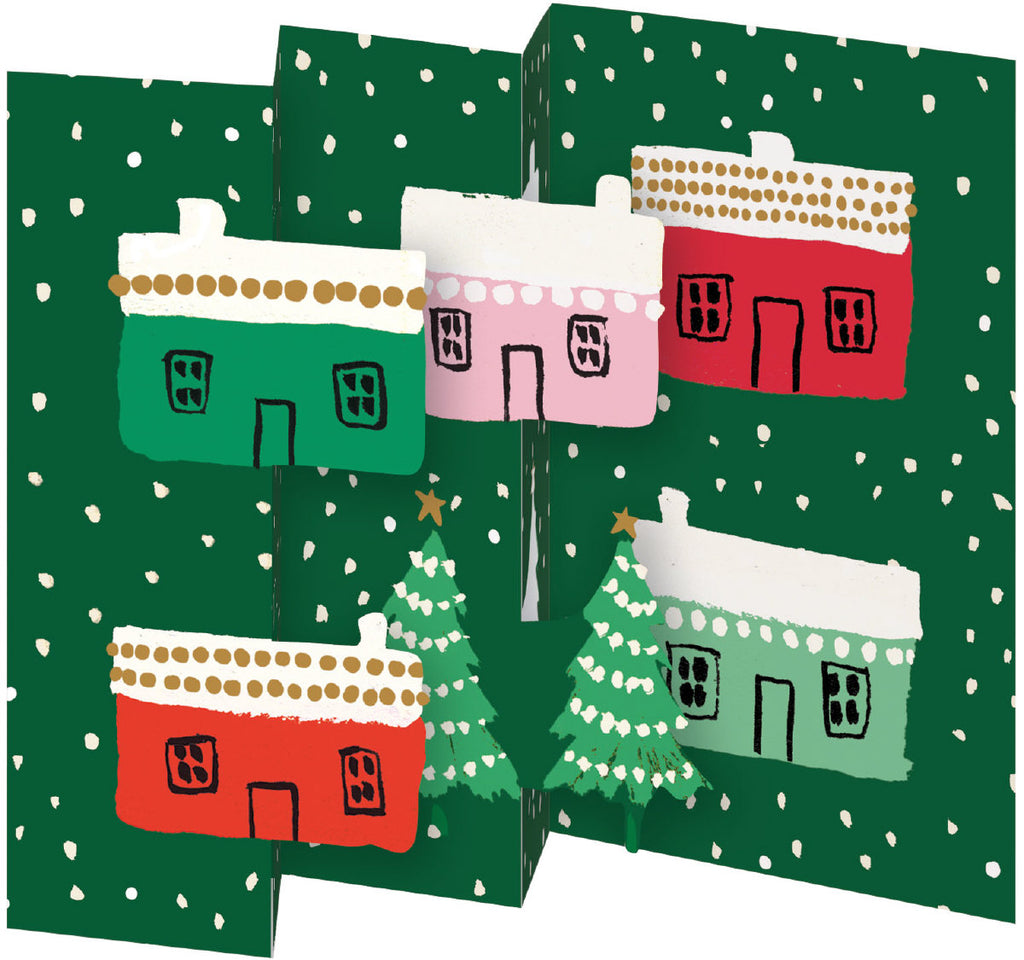Roger la Borde Little House Trifold Notecard featuring artwork by Emily Isabella