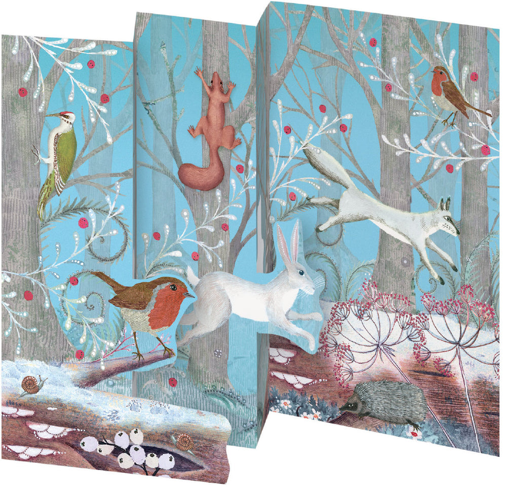 Roger la Borde Call of the Wild Trifold Notecard featuring artwork by Jane Ray