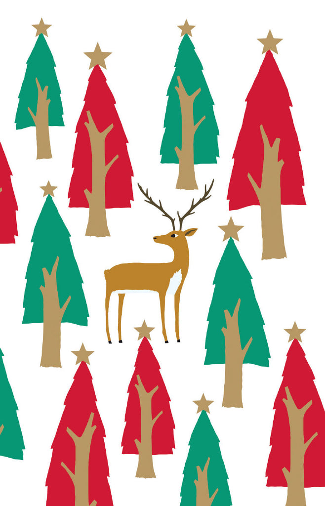 Roger la Borde Christmas Tree Notecard featuring artwork by Roger la Borde