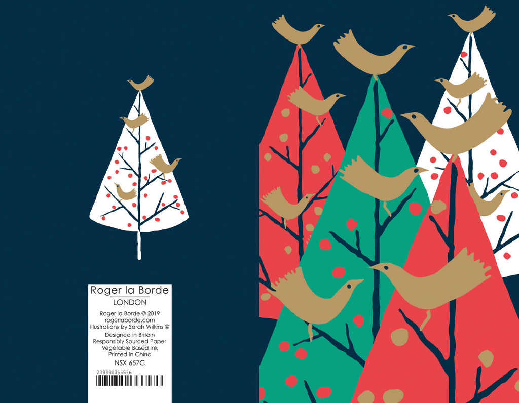 Roger la Borde Christmas Tree Charity Notecard featuring artwork by Roger la Borde