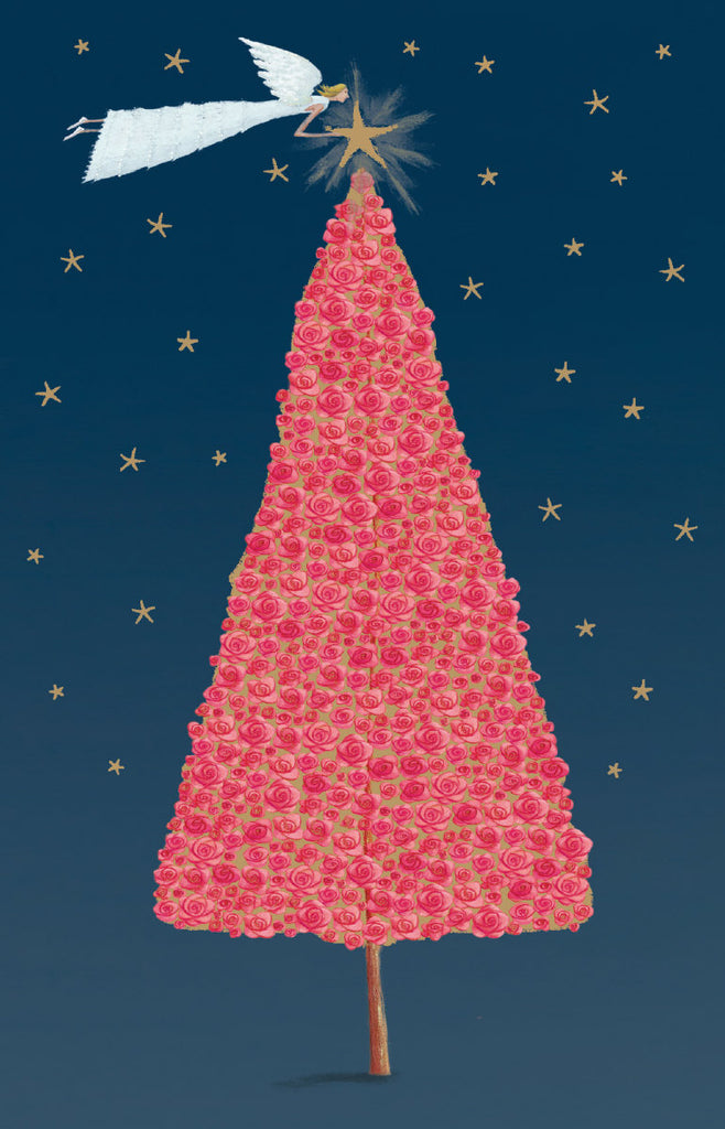 Roger la Borde Christmas Tree Notecard featuring artwork by Mary Claire Smith