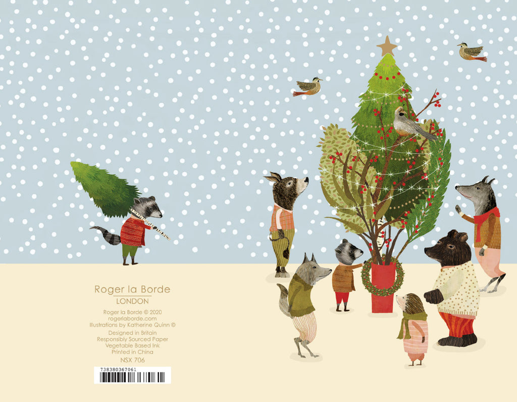 Roger la Borde Christmas Procession Notecard featuring artwork by Katherine Quinn