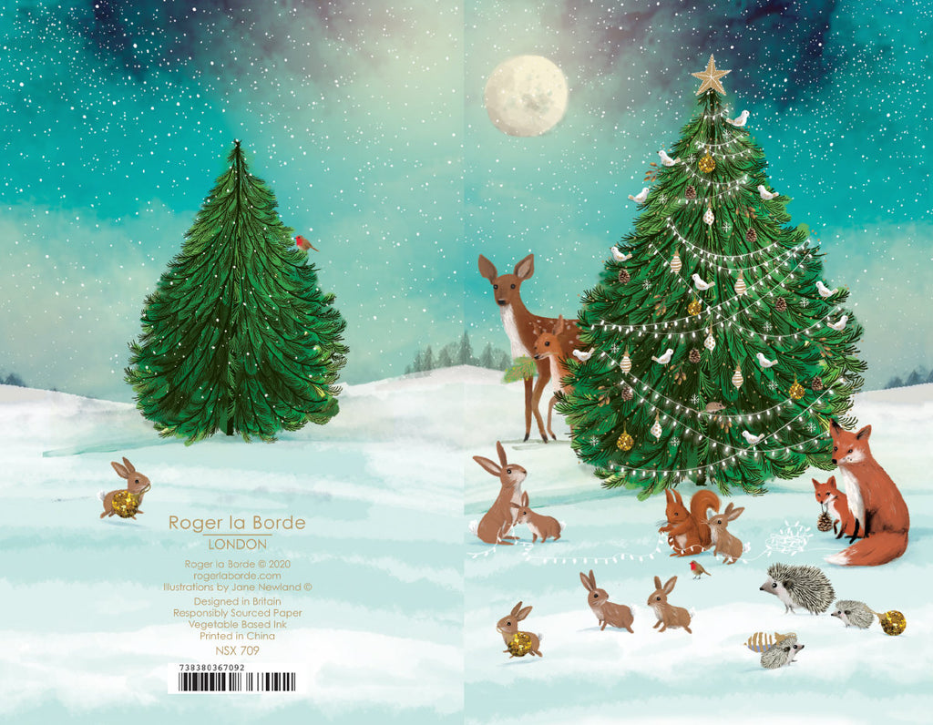 Roger la Borde Let It Snow Notecard featuring artwork by Jane Newland