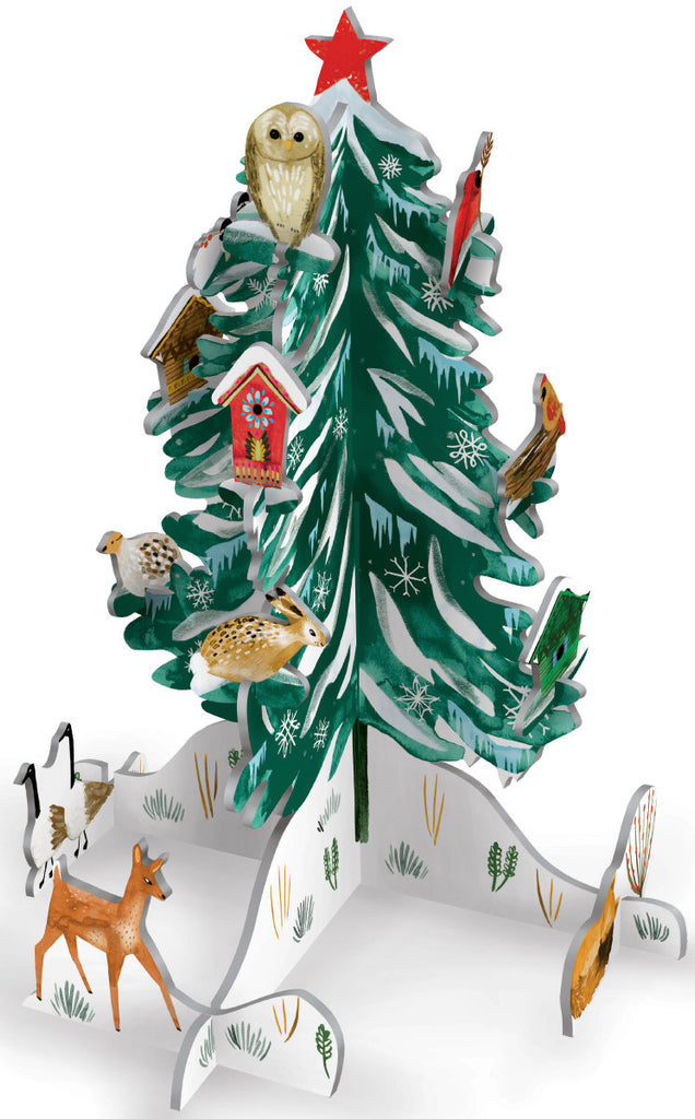 Roger la Borde Christmas Conifer Pop & Slot Calendar featuring artwork by Katie Vernon
