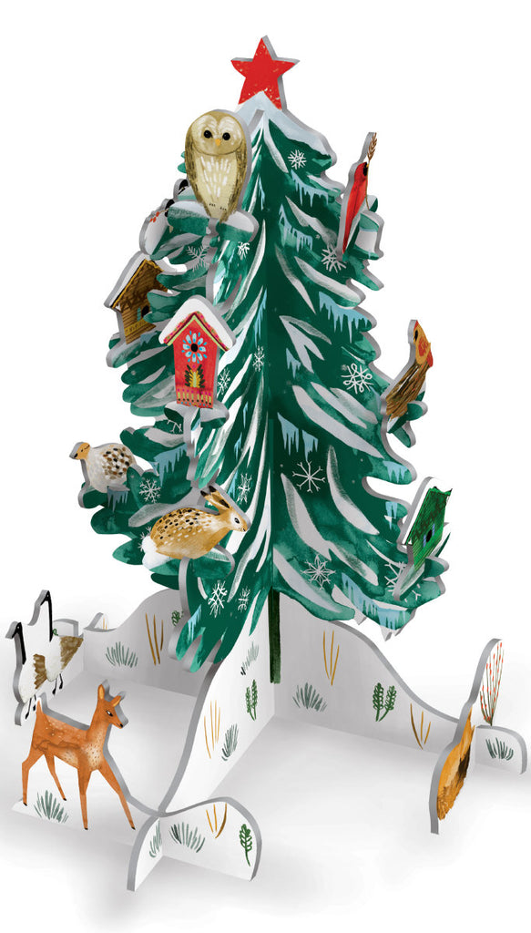 Roger la Borde Christmas Conifer Pop & Slot featuring artwork by Katie Vernon