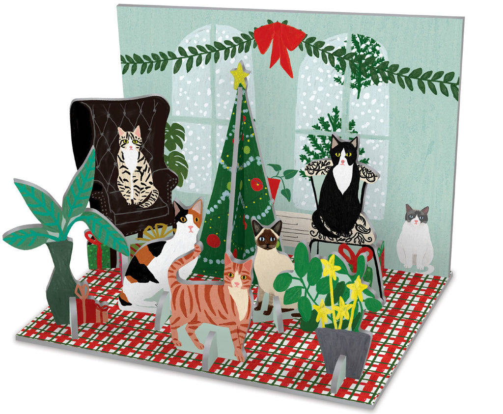 Roger la Borde Cat and Dog Palais Pop & Slot featuring artwork by Anne Bentley