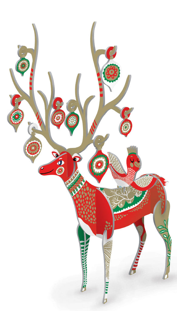 Roger la Borde Folksy Reindeer Pop & Slot featuring artwork by Helen Dardik