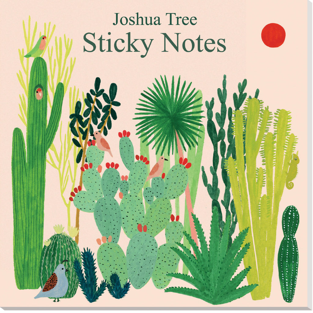 Roger la Borde Joshua Tree Sticky Notepad featuring artwork by Kate Pugsley