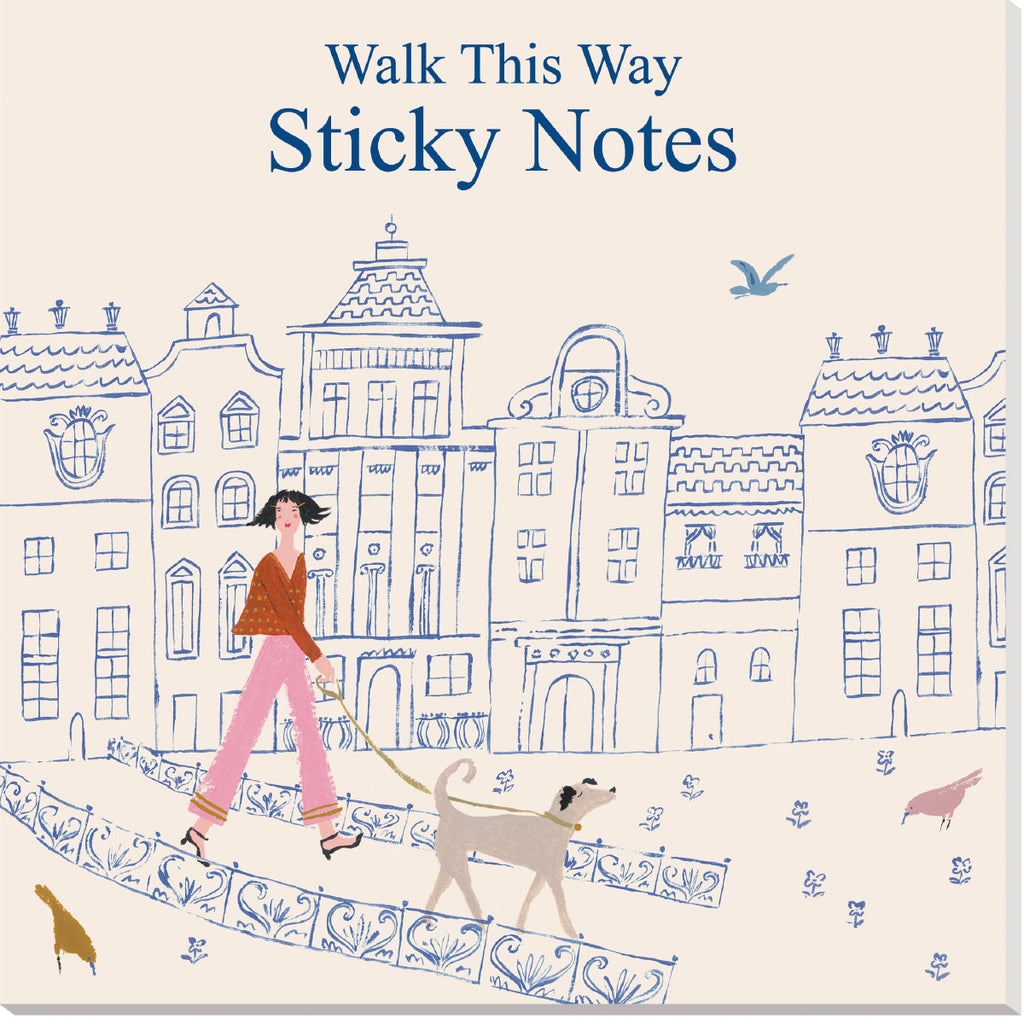 Roger la Borde Walk This Way Sticky Notepad featuring artwork by Emily Isabella