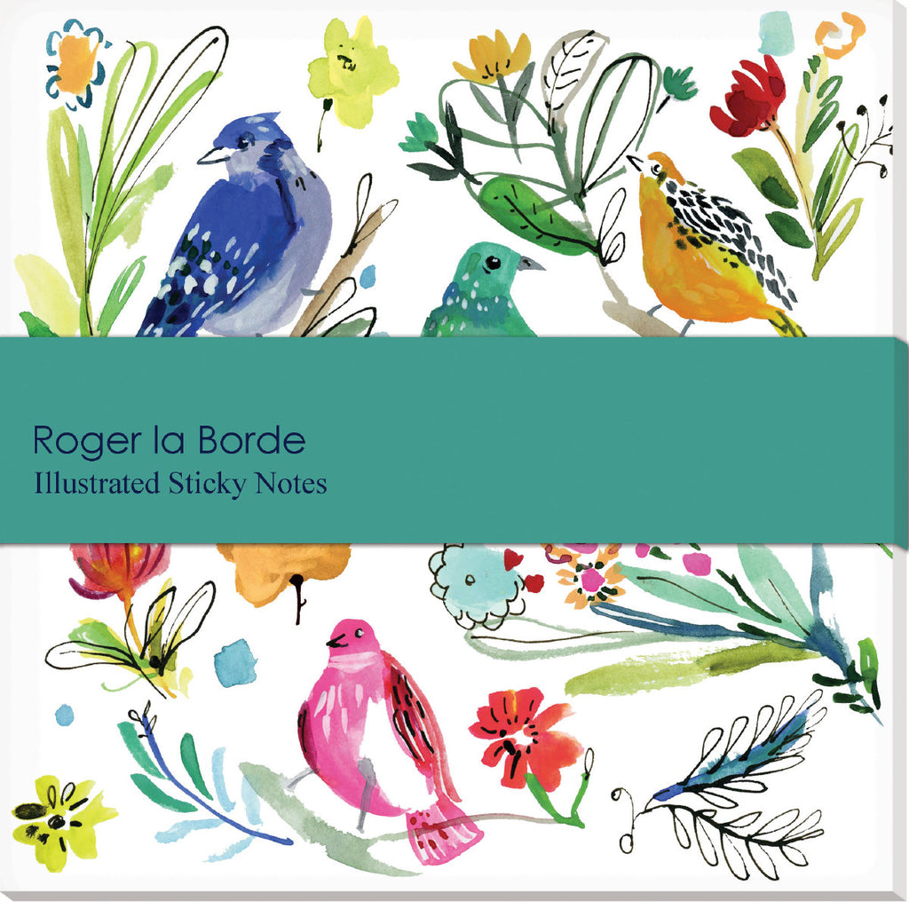 Roger la Borde Wild Batik Sticky Notepad featuring artwork by Jennifer Orkin Lewis