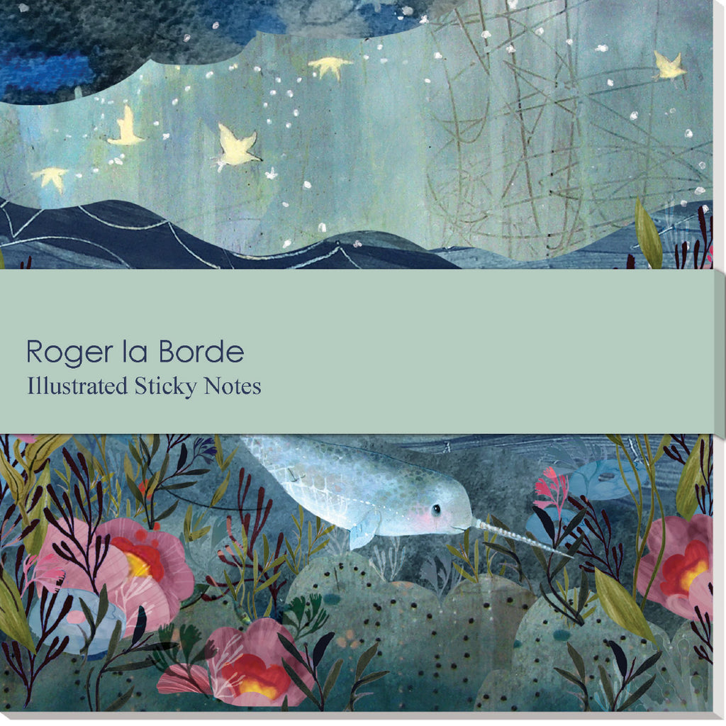 Roger la Borde Sea Dreams Sticky Notepad featuring artwork by Kendra Binney