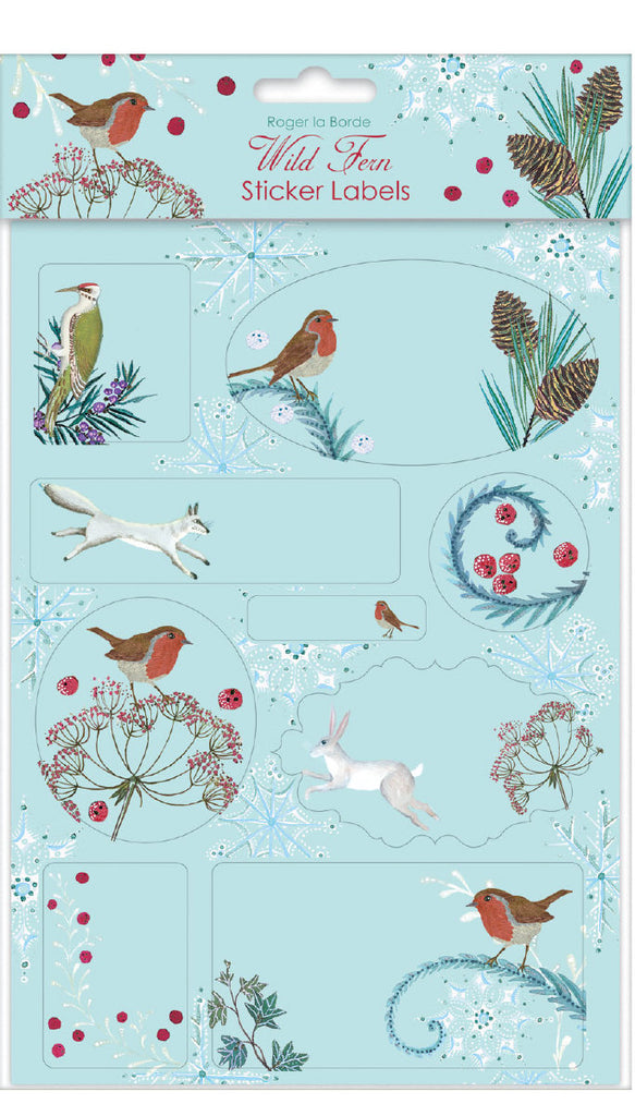 Roger la Borde Abundance Sticker Labels Sheet featuring artwork by Jane Ray