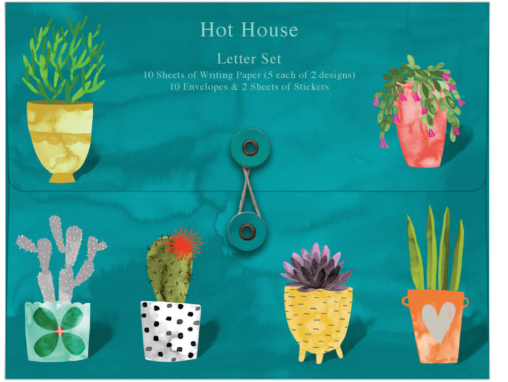 Roger la Borde Hot House Writing Paper Set featuring artwork by Katie Vernon