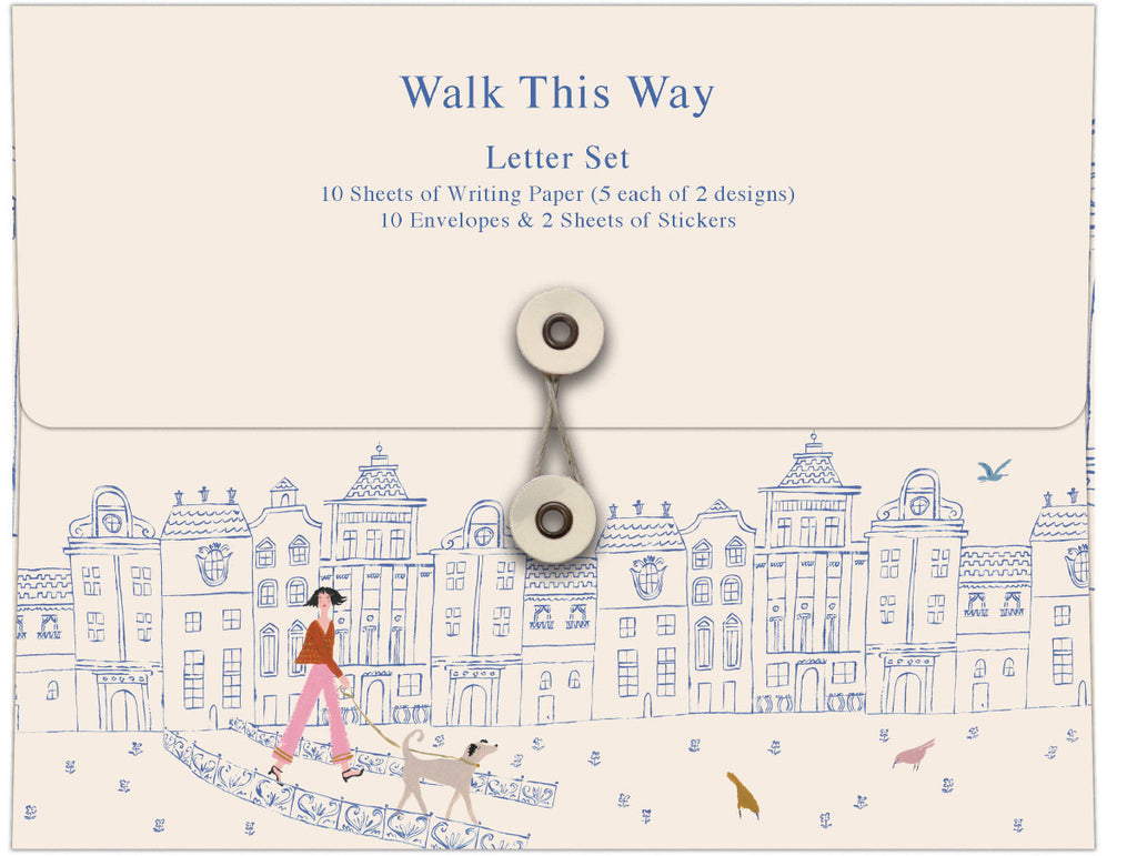 Roger la Borde Walk This Way Writing Paper Set featuring artwork by Emily Isabella