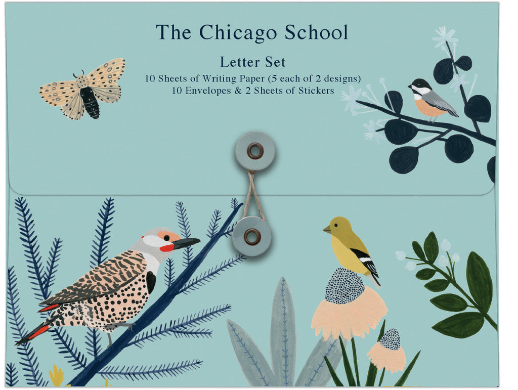Roger la Borde Chicago School Writing Paper Set featuring artwork by Kate Pugsley
