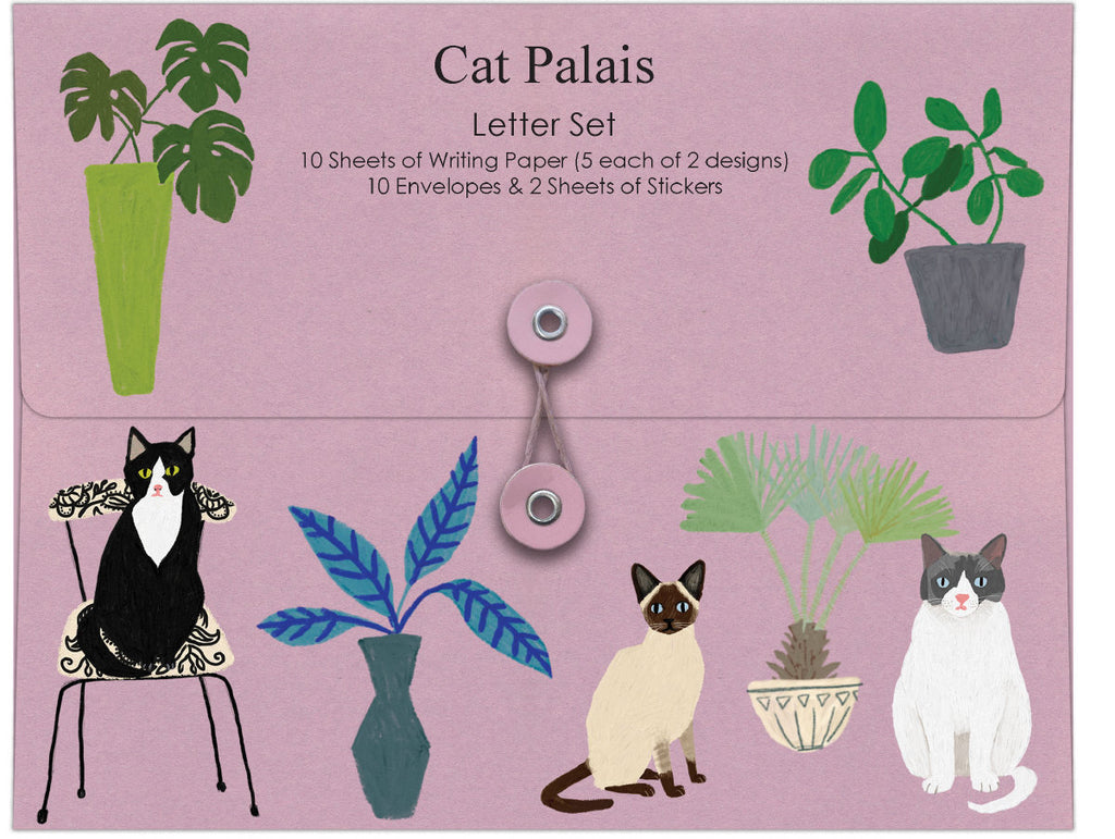 Roger la Borde Cat and Dog Palais Writing Paper Set featuring artwork by Anne Bentley