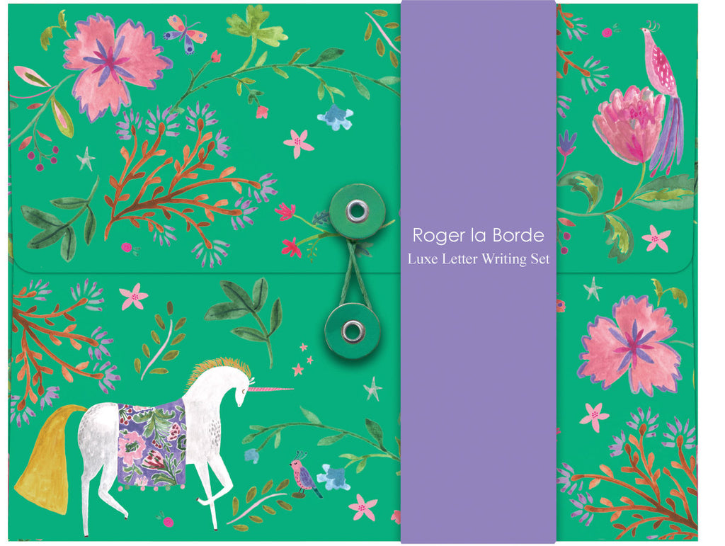 Roger la Borde Over the Rainbow Writing Paper Set featuring artwork by Rosie Harbottle