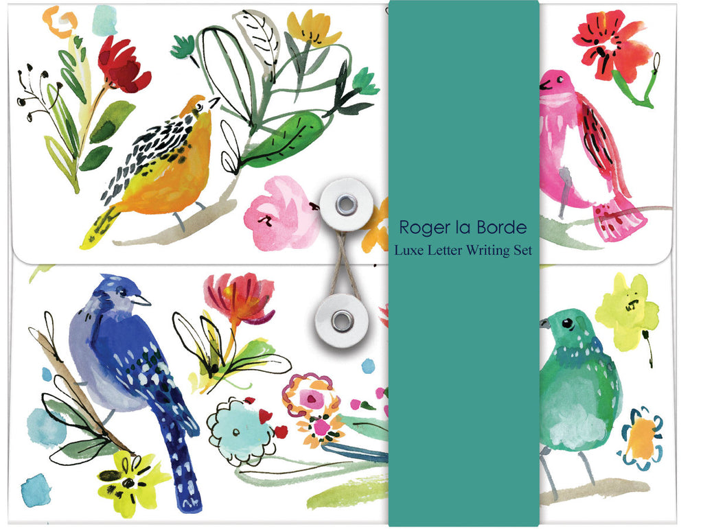 Roger la Borde Wild Batik Writing Paper Set featuring artwork by Jennifer Orkin Lewis