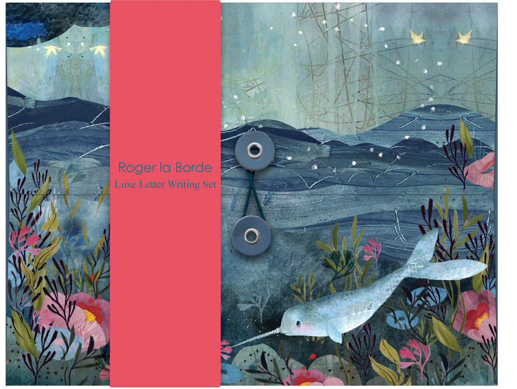 Roger la Borde Sea Dreams Writing Paper Set featuring artwork by Kendra Binney