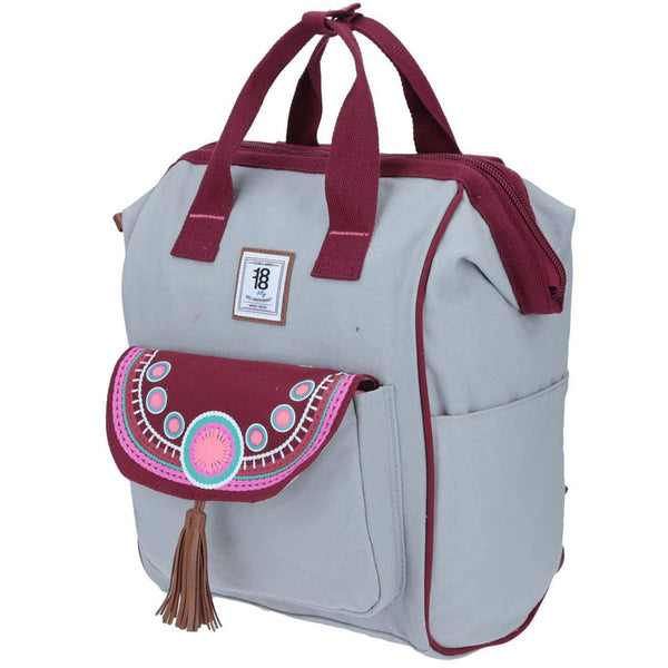 Mochila tote backpack tribal gris