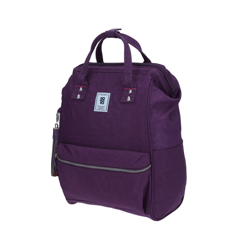 Tote-backpack usb mediana morado