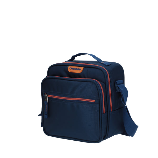Lonchera multi-compartmentos azul