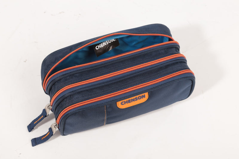 Estuche triple compartimento colors azul