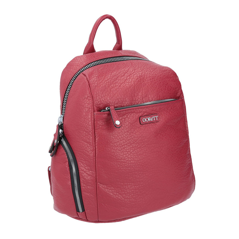 Mochila Faux Leather Roja