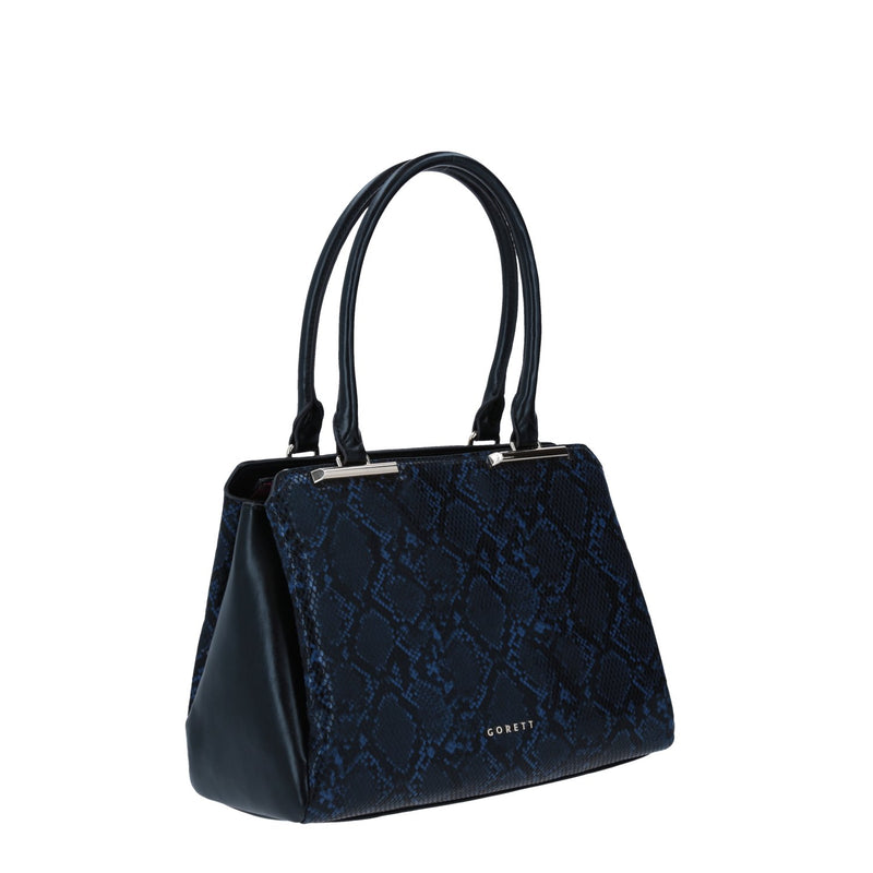 Tote Gorett Estampado  Animal Print Color Azul