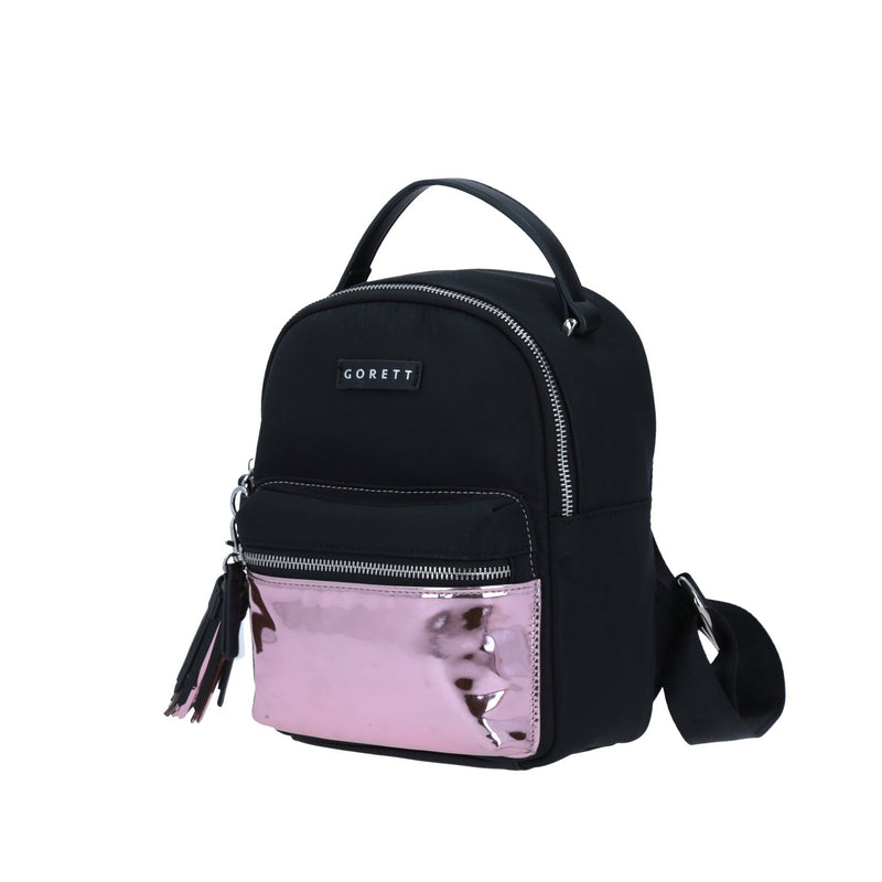 Mini Backpack Iridiscente Gorett Negro