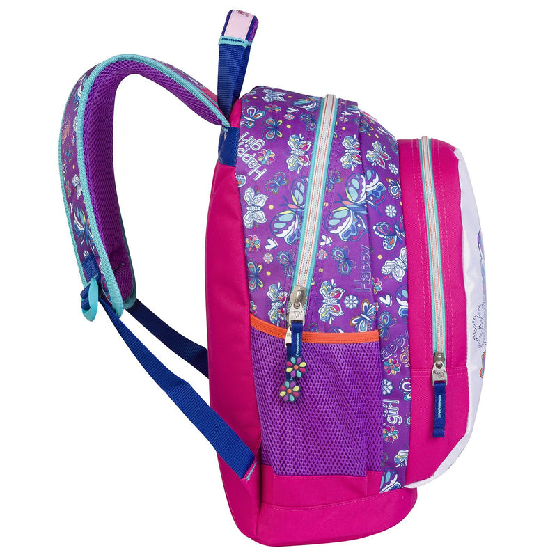 Mochila grande butterfly happy girl