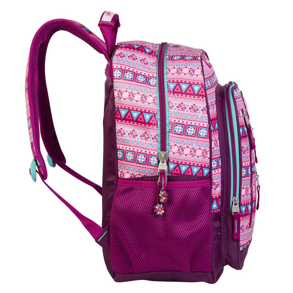 Mochila multi-compartimentos happy girl rosa