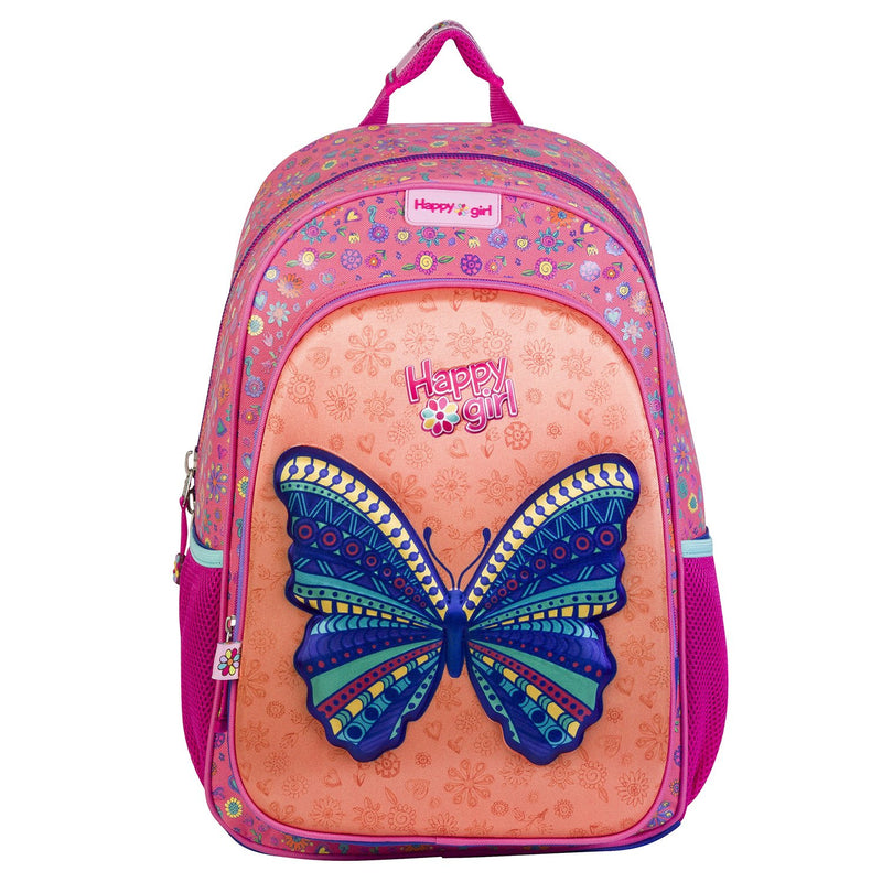 Mochila grande mariposa happy girl