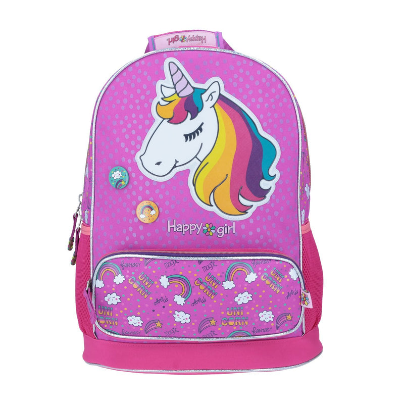 Mochila  Unicornio Happy Girl con Pines