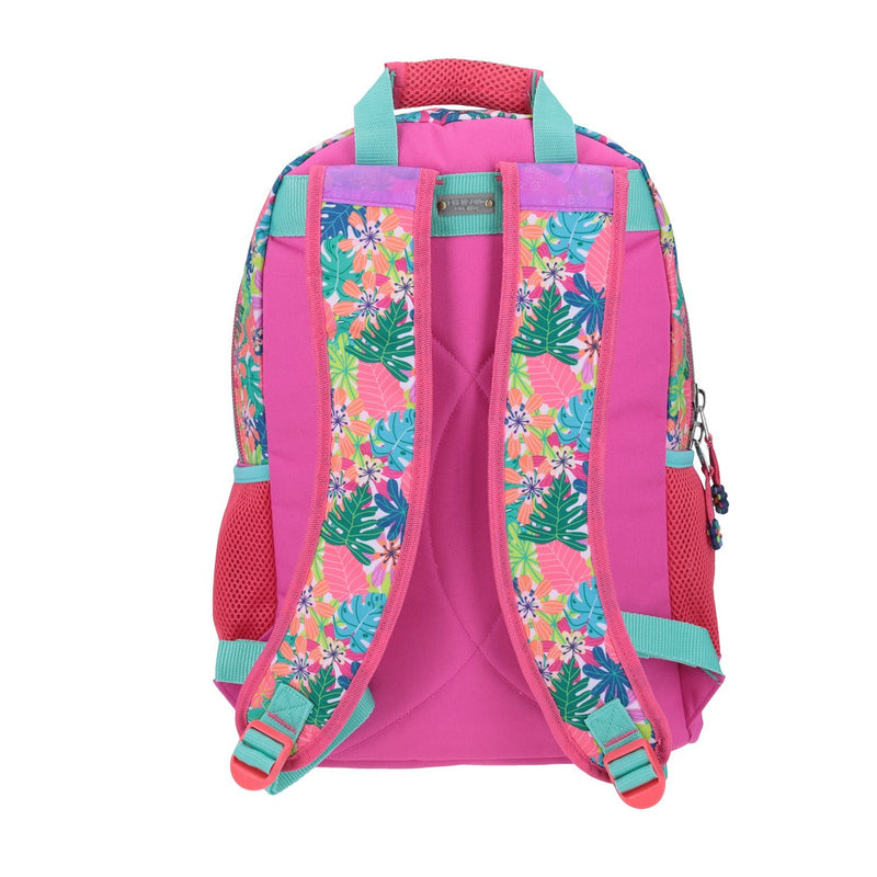 Mochila Grande Flamingo Peluche Happy Girl
