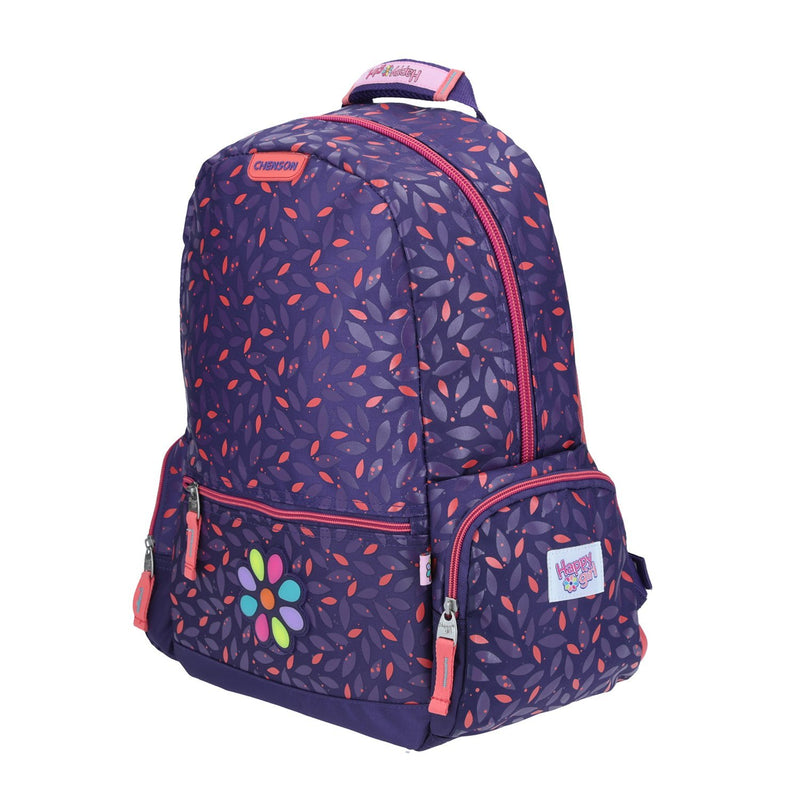 Mochila Grande Flor Happy Girl