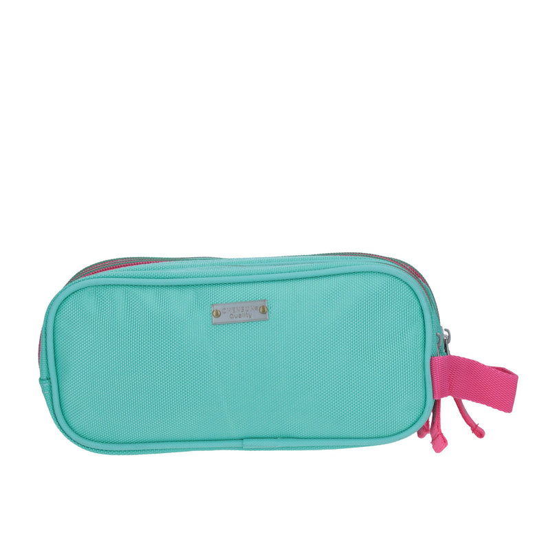 Estuche triple compartimento colors aqua
